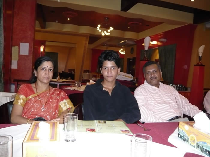 Sudharshan with Parents